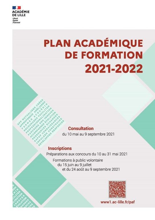 PAF 2021-2022 Académie de Lille